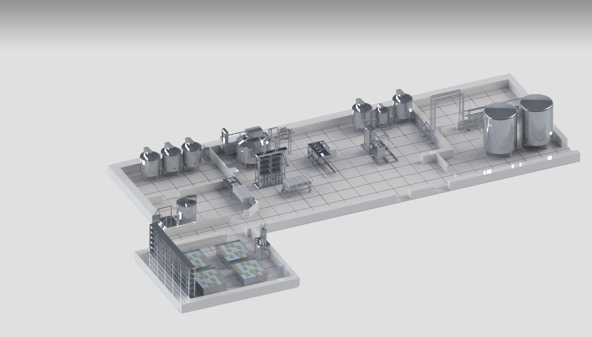 Молочный завод производительностью 50 000 л в сутки