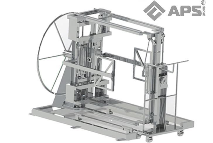 Кантователь для переворачивания паллеты сырных форм