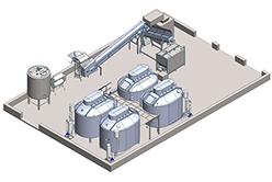Механизированная автоматическая линия производства творога непрерывным методом (м.д.ж. от 1,5% до 20%)