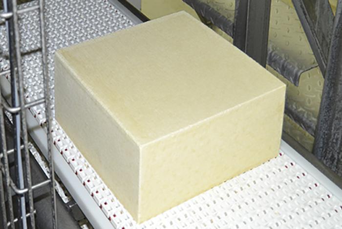Готовый сыр - производство на квадратной форме