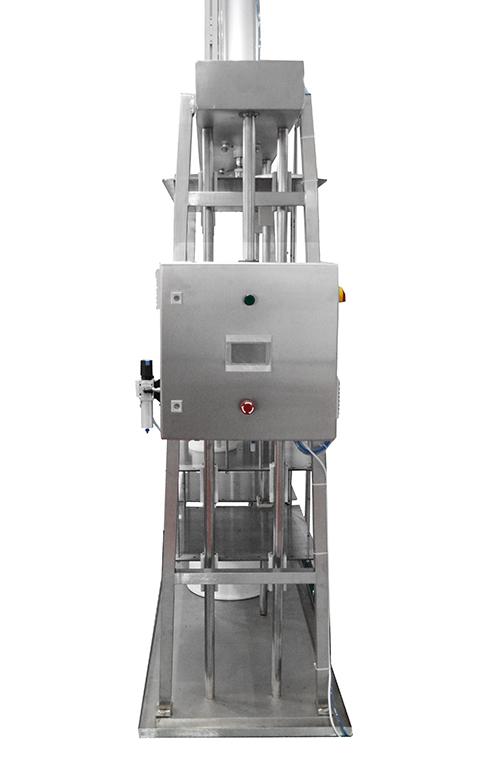 Вертикальный пневматический пресс для сыра с пультом управления