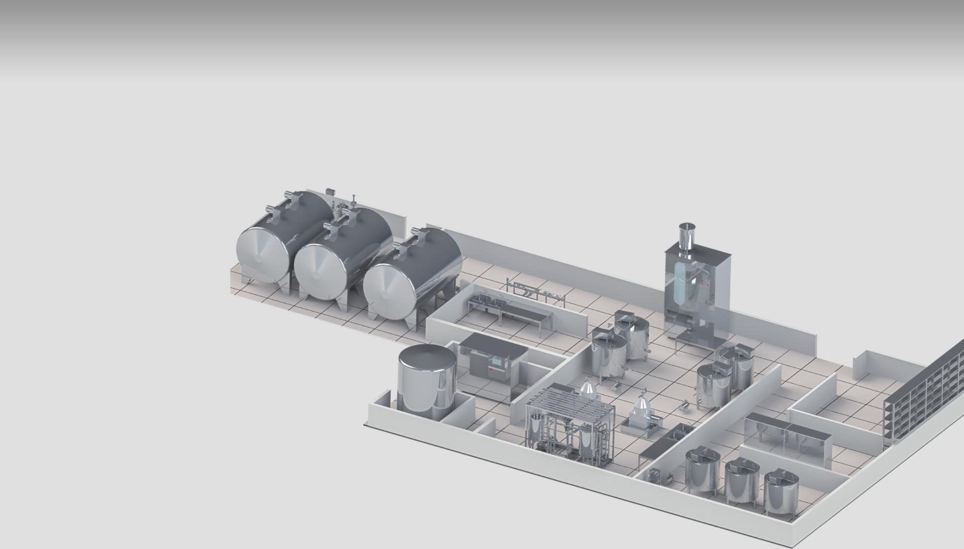 Молочный завод производительностью 10 000 литров в сутки