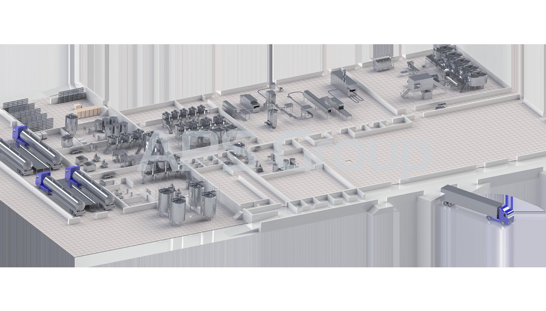Молочный завод производительностью 100 000 литров в сутки