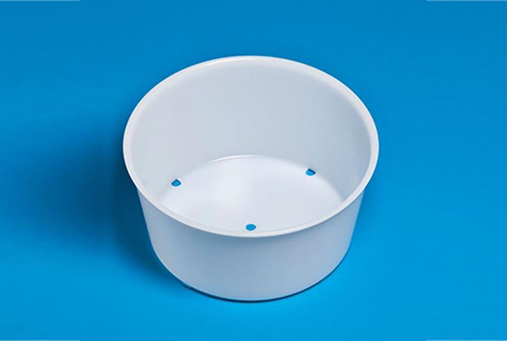 Форма для сыра P00779 с Дн=18,5, с Дв=22, В= 11 см, вес по сыру 2,5 кг