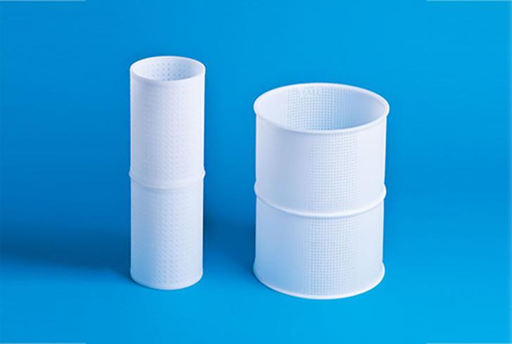 Форма P00033 с Дв=12, Дн=11,5, В=19,5 см, вес по сыру 1-1,5 кг.