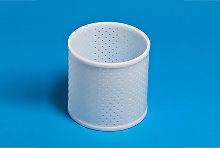 Форма P00643 с Дв=15,5, Дн=15,2, В=16 см, вес по сыру 1500 гр.