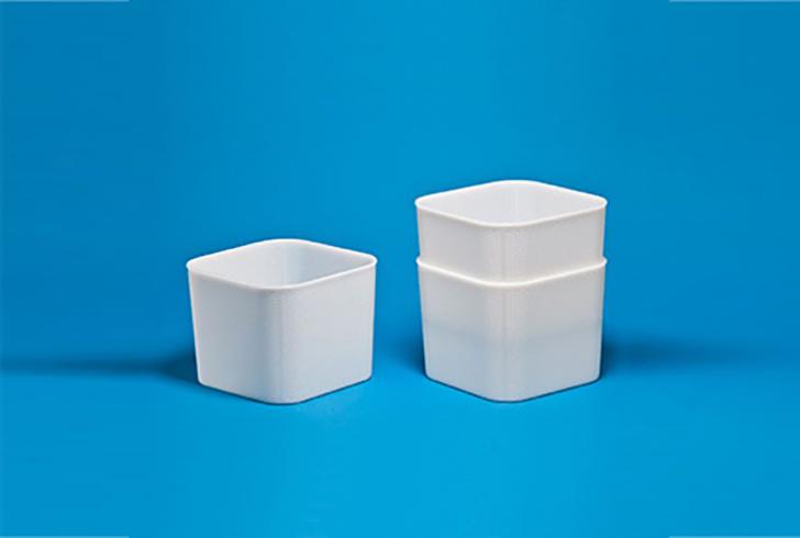 Штабельная форма P00800 размером 22,8х22,8 см, В=18,3 см, вес по сыру 3-4 кг.