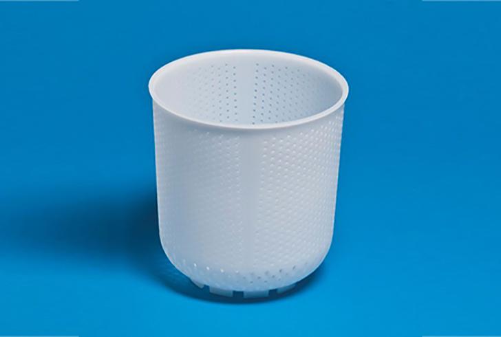 Форма для сыра P00716 с Дв=15,3 см, Дн=10 см, В=16,4 см, вес 1000 гр.