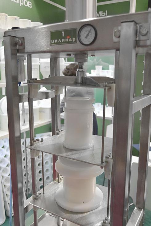 Вертикальный пресс для сыра на выставке Агропродмаш APS Group