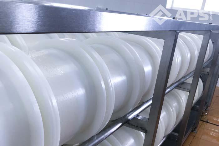Линия производства сыра с горизонтальным прессом для сыра
