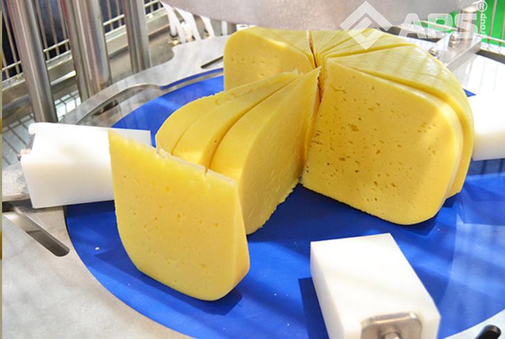 Пример нарезанного сыра на фиксированный вес