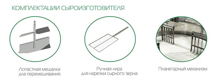 Комплектации сыроизготовителя APS Group