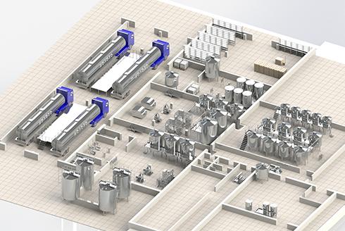Large dairy plants engineering