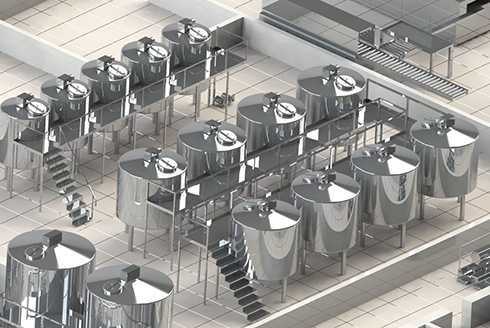 Milk and dairy products production sites engineering