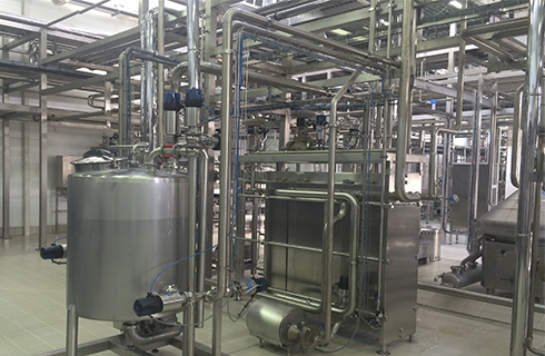 Installation work at the dairy plant