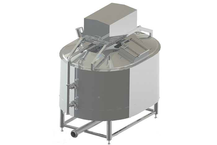 Semi-automatic cheese maker from 100 liters