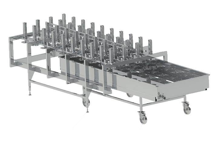 Tunnel cheese press