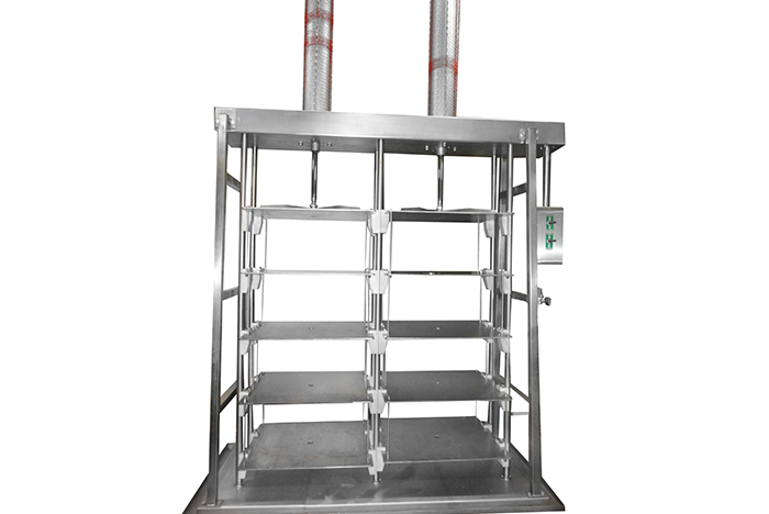 Vertical pressing machine for 2-4 levels of cheese heads with manua; controls