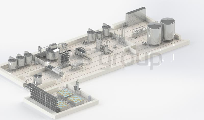 Milk plant with productivity of 3 000 lt per day