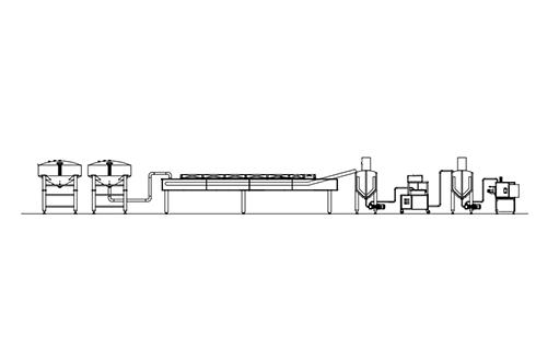 Ricotta line production