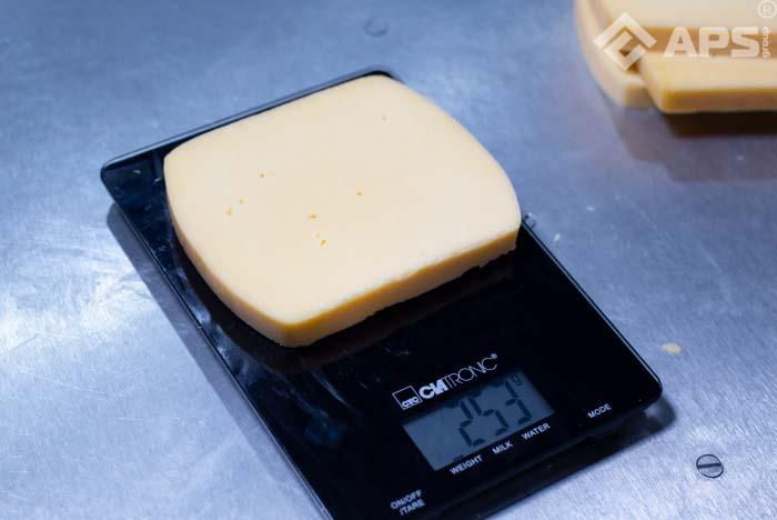 Машина нарезки брускового сыра на порции фиксированного веса