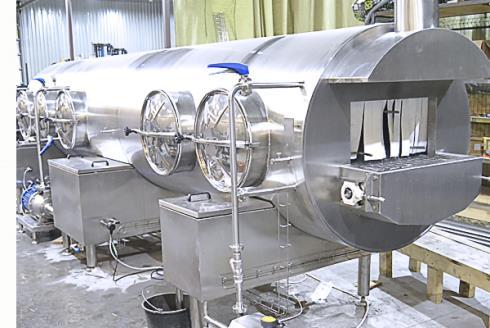 Туннельная машина мойки сырных форм