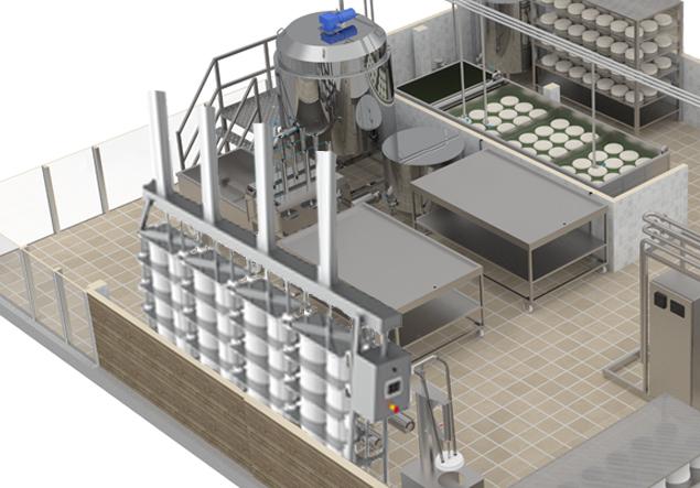 Комплект оборудования для производства сыра 500 л п м