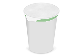 Yogurt in a cup
